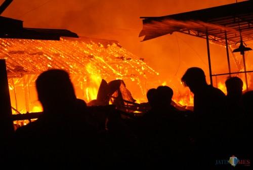Pasar Ngunut yang terbakar pada medio Novemer 2019 lalu ( Joko Pramono for Jatim Times)