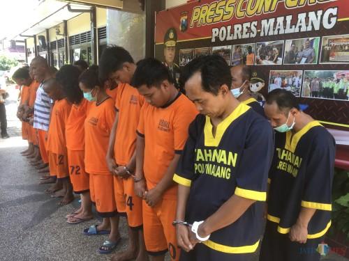 Polres Malang Ringkus 23 Tersangka dari 20 Kasus, Personel Kring Reserse Bakal Diprioritaskan di Empat Kecamatan Rawan Kejahatan