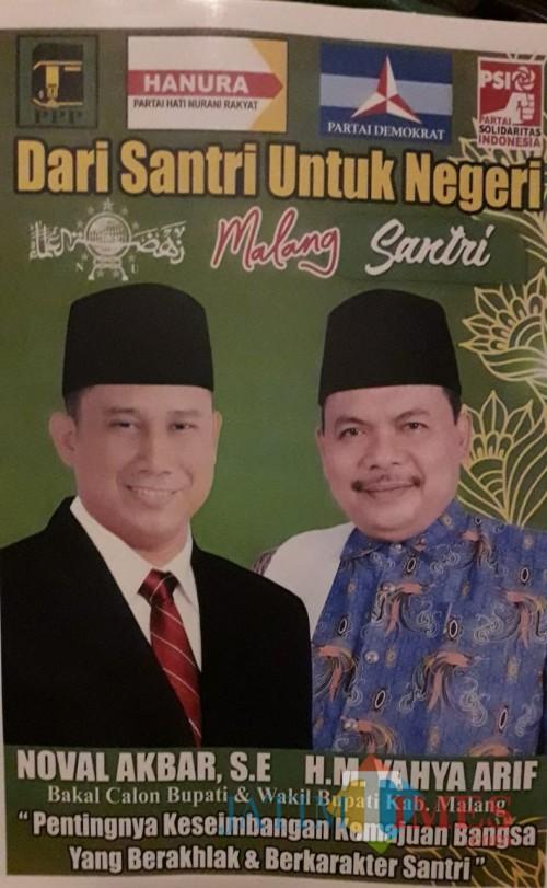 Gambar atau foto terbaru balon Bupati dan Wabup dari Malang Santri (Noval for MalangTimes)