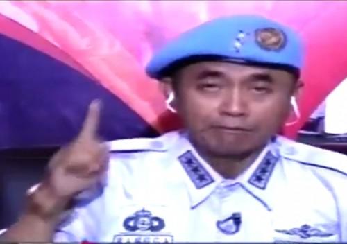 Layar tangkap cuplikan siaran TV Swasta terkait Sunda Empire dengan narsum Rangga Sasana. (Ist)