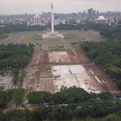 Kondisi Monas dengan adanya revitalisasi di era Anies Baswedan (IndonesiaKiniNews.com)