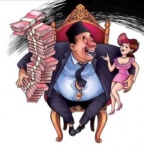 Ilustrasi terkait harta, tahta dan wanita yang menjadi ujian terberat para pejabat di Republik Indonesia. (Ist)