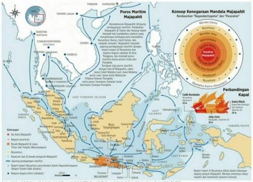 Peta kekuasaan  Kerajaan Majapahit yang akan dilahirkan lagi. (Ist)