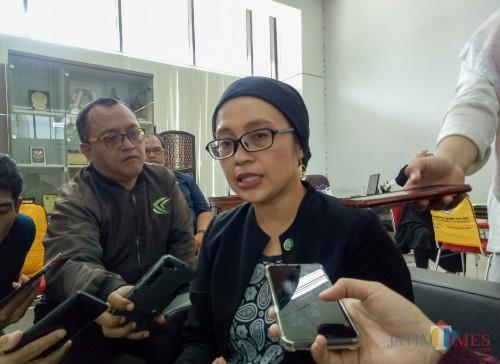 Direktur Kantor Hubungan Internasional UM Evi Eliyanah. (Foto: Ima/MalangTIMES)