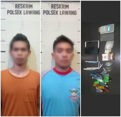 Kedua Tersangka Transaksi Narkoba Decky dan Akib. Foto : Istimewa Polsek Lawang