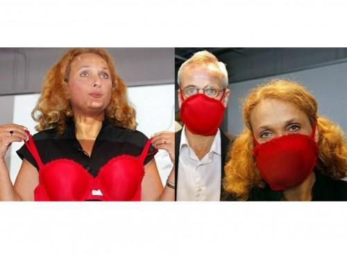 Masker bra yang diklaim sebagai masker penangkal virus termasuk Corona (Foto: Reuters)
