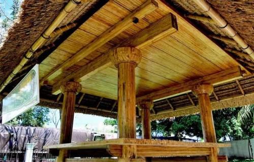 Bangunan dengan bahan material bambu laminasi (Litbang PUPR)