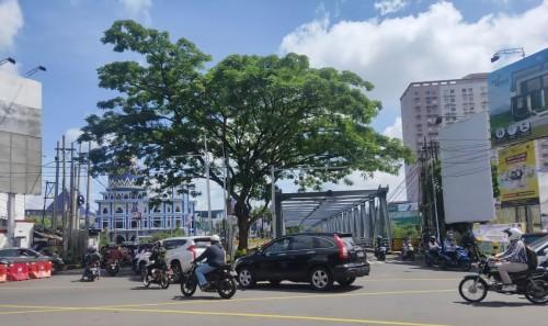 Kondisi terkini lalu lintas kawasan Soekarno Hatta Kota Malang (Istimewa).
