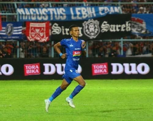 Ikhfanul Alam saat masih membela Arema FC (instagram Ikhfanul Alam)
