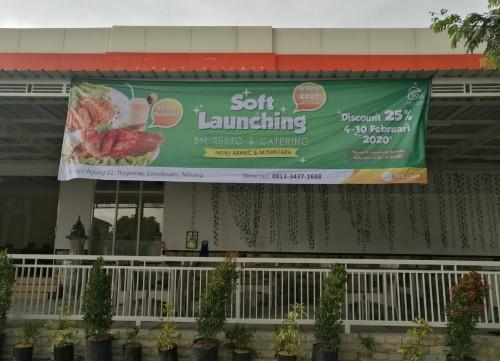 Soft launching BM Resto & Catering Pondok Pesantren Bahrul Maghfiroh hadirkan diskon 25 persen all varian menu (Foto: Dokumentasi Ponpes Bahrul Maghfiroh)