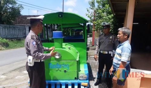 Kereta Kelinci Menjamur di Jombang, Satlantas Polres Jombang Lakukan Ini