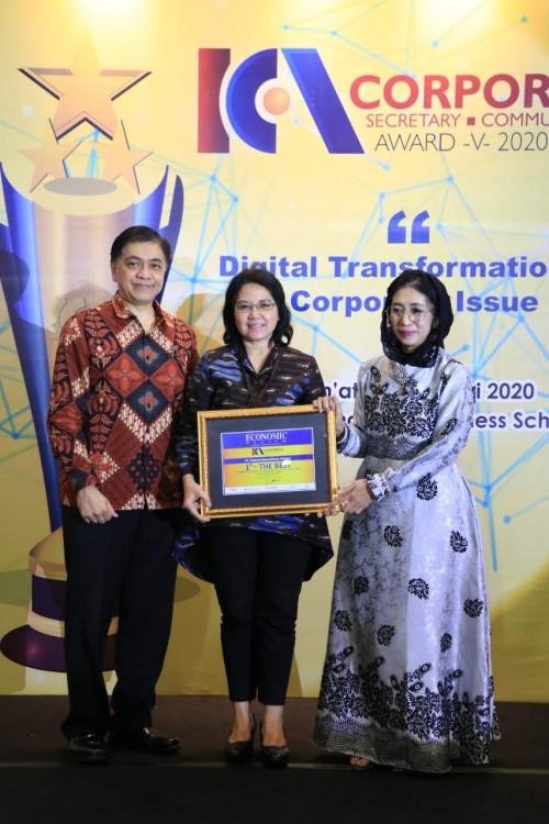 FIFGROUP raih penghargaan Indonesia Corporate Secretary And Corporate Communication Award sebagai 1st- The Best Corporate Secretary & Corporate Communication dengan kategori Multifinance Company-Asset > Rp. 10 T (07/20),