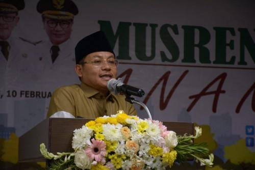 Wali Kota Malang Sutiaji saat menghadiri Musrenbang Anak RKPD 2021 di Hotel Savana. (Istimewa)