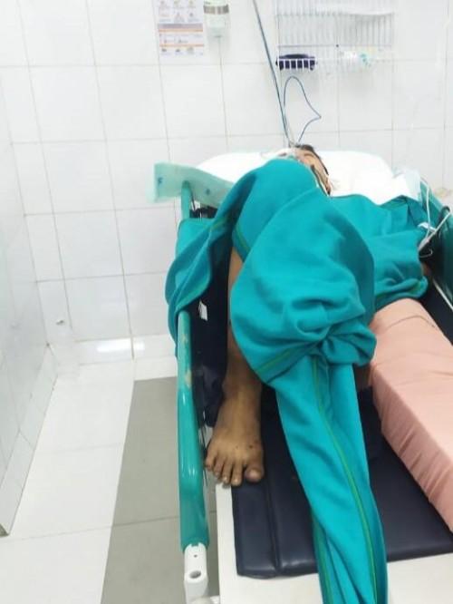 Kondisi Dimas Budi Santoso korban kecelakaan saat menjalani perawatan intensif usai menghantam bus rombongan Persela Lamongan