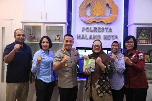 KPAI yang mendatangi Polresta Malang Kota untuk memantau jalannya proses hukum kasus Perundungan (ist)