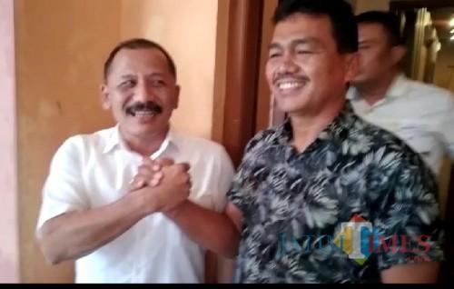 Sholeh dan Danang setelah pertemuan rutinan AKD / Foto : Istimewa / Tulungagung TIMES