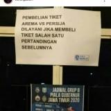 Simpangsiur Tiket Laga  Arema FC - Persija, Berikut Penjelasannya