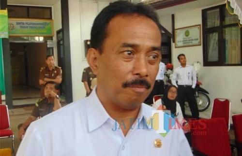 Samanhudi Anwar saat menjabat sebagai wali kota Blitar.(Foto : Aunur Rofiq/BlitarTIMES)
