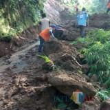 Diguyur Hujan, Tebing Setinggi 60 Meter Longsor Tutup Akses Jalan Dua Desa