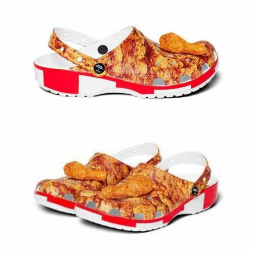 Tampilan sepatu KFC x Crocs Classic Clogs (Foto: KFC/Crocs)