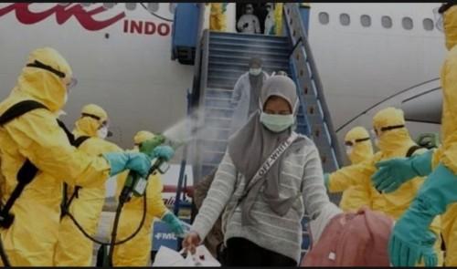 Suasana pemulangan WNI dari Wuhan China saat tiba di Indonesia beberapa waktu lalu (Foto: Istimewa)