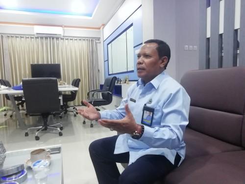Dirut Perumda Tirta Kanjuruhan Kabupaten Malang Syamsul Hadi saat membeberkan kronologi dibalik polemik sumber air Wendit (dd nana)