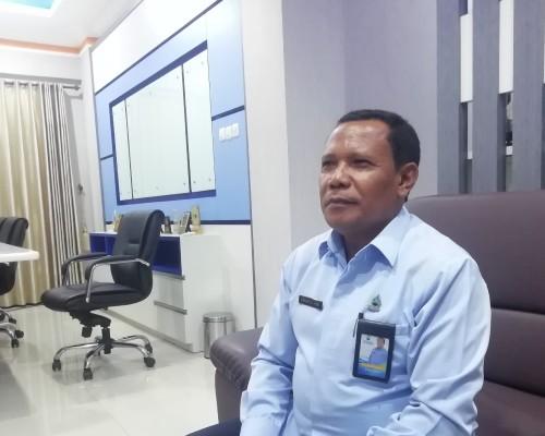 Angkat bicara : Dirut Perumda Tirta Kanjuruhan Kabupaten Malang Syamsul Hadi terkait petisi yang menyeret proyek pipanisasi di Wendit (dd Nana)