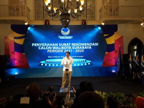 Tanpa Mahar, Partai Nasdem Rekomendasi Machfud Arifin di Pilwali Surabaya