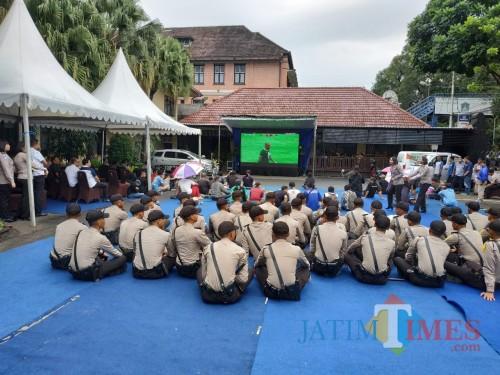 Nobar Final Persebaya di Polresta Malang Kota, Ini Tanggapan Aremania