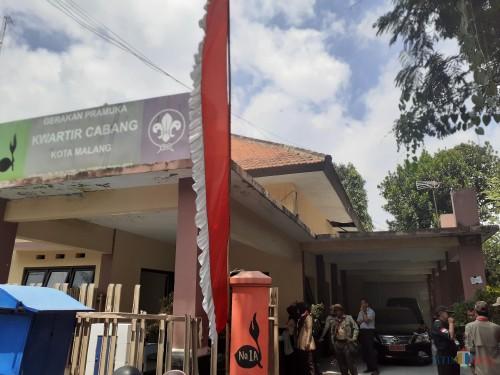 Kondisi gedung Kwartir Cabang Kota Malang yang tak terawat. (Arifina Cahyanti Firdausi/MalangTIMES)