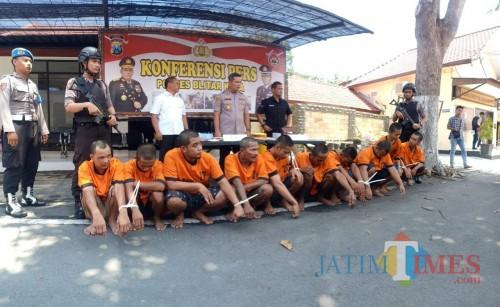 Heri Sutrisno jadi salah satu dari 10 pengedar narkoba yang ditangkap Polres Blitar Kota.(Foto : Team BlitarTIMES)