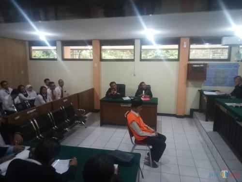 Sugeng Santoso saat menjalani persidangan (Anggara Sudiongko/MalangTIMES)