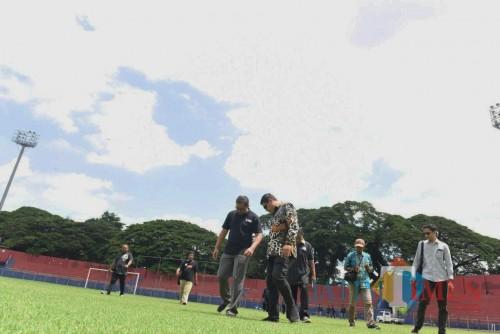 Jelang Kompetisi Liga 1, Wali Kota Tinjau Langsung Perbaikan Stadion Brawijaya