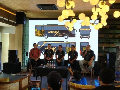 Suasana konferensi pers perkenalan sponsor baru Arema FC (Hendra Saputra)