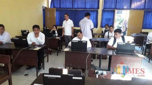 Korwilsatdik Kecamatan Glagah Pantau Simulasi UNBK Kejar Paket C