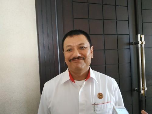 Ketua umum KONI Kota Malang Eddy Wahyono. (Hendra Saputra)
