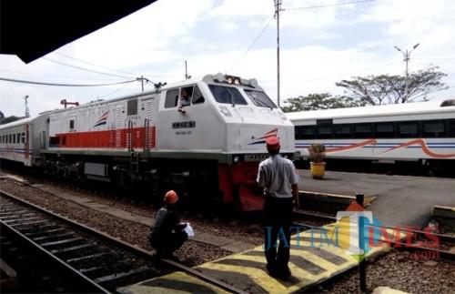 Kereta Api penumpang di Stasiun Malang (Doc MalangTIMES)