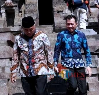 Bupati Malang Sanusi (kiri) dan Soedarman Wabup terpilih di acara Gema Desa, beberapa waktu lalu (dok MalangTimes)