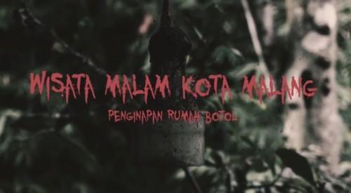 Penginapan Rumah Botol yang dikabarkan menjadi destinasi wisata malam angker di Kota Malang. (Foto: video capture dari 8 Production)
