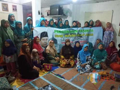 Jamaah Yasinta Doakan Fandi Utomo Jadi Wali Kota Surabaya