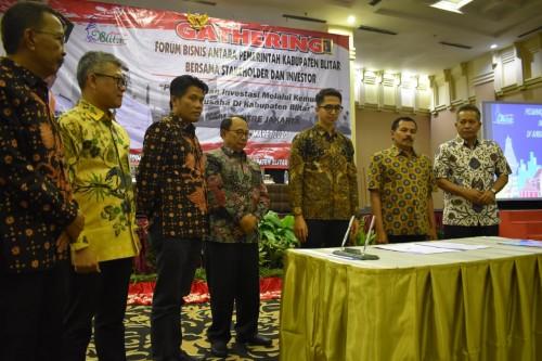 Gathering dan Forum Bisnis Bersama Investor, Bupati Blitar Jamin Keamanan Investasi