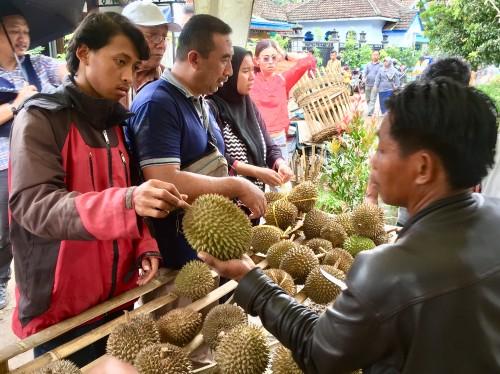 Kembalikan Kejayaan Durian Jombok, Bazar Durian Sukses Curi Perhatian Warga