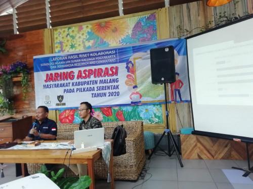 Pemilih Pilkada Kabupaten Malang dimungkinkan beralih pilihan karena faktor pemberian hadiah, sembako, uang dan faktor lainnya seperti dirilis UIN Sunan Kalijaga dan Adiwangsa Research (dd nana)