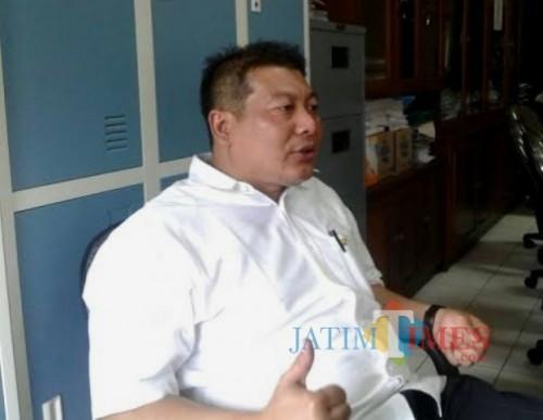 Cawabup dari PDI Perjuangan Didik Gatot Subroto siap melepas jabatannya sebagai Ketua DPRD Kabupaten Malang. (dd nana)