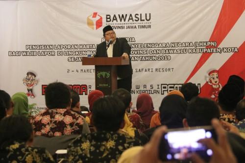 Jaga Integritas, Seluruh Pejabat Bawaslu Wilayah Jatim Isi LHKPN