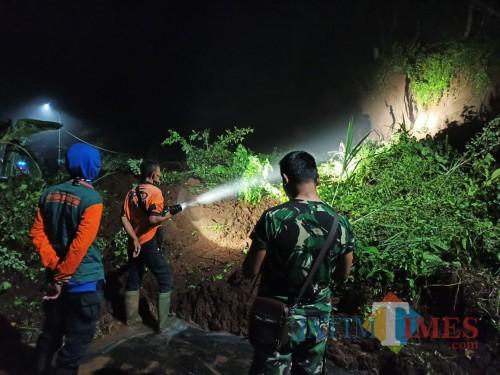 Longsor kembali terjadi di dua kecamatan di Kabupaten Blitar.(Foto : Team BlitarTIMES)