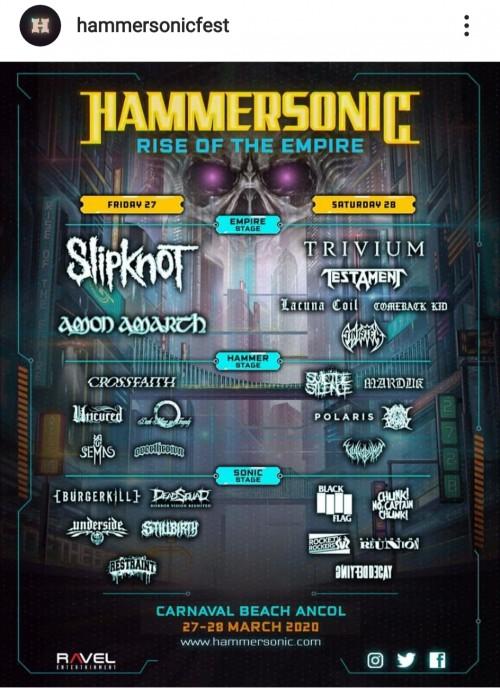 Line up dan co-line up artis Hammersonic Festival 2020. (Foto: Instagram hammersonicfest)