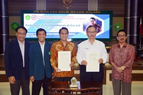 UIN Malang menjalin MoU dengan Ikatan Dokter Indonesia (IDI). (Foto: istimewa)