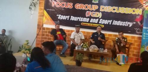 Suasana FGD industri olahraga di Purwoharjo Banyuwangi Nurhadi Banyuwangi Jatim TIMES
