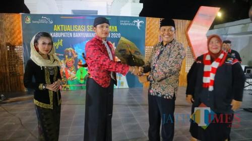 Suasana Gelaran Aktualisasi Seni Budaya Kebangsaan di Taman Blambangan Banyuwangi (Nurhadi/BanyuwangiTIMES)